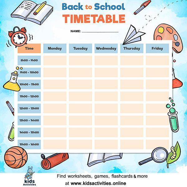 Weekly Planner Template for Kids Free Weekly Planner Template Printable ⋆ Kids Activities In