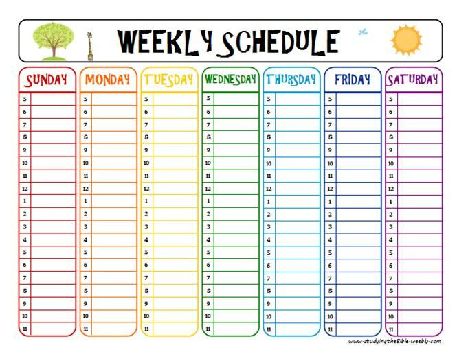 Weekly Planner Template for Kids Pin On Kid Learin