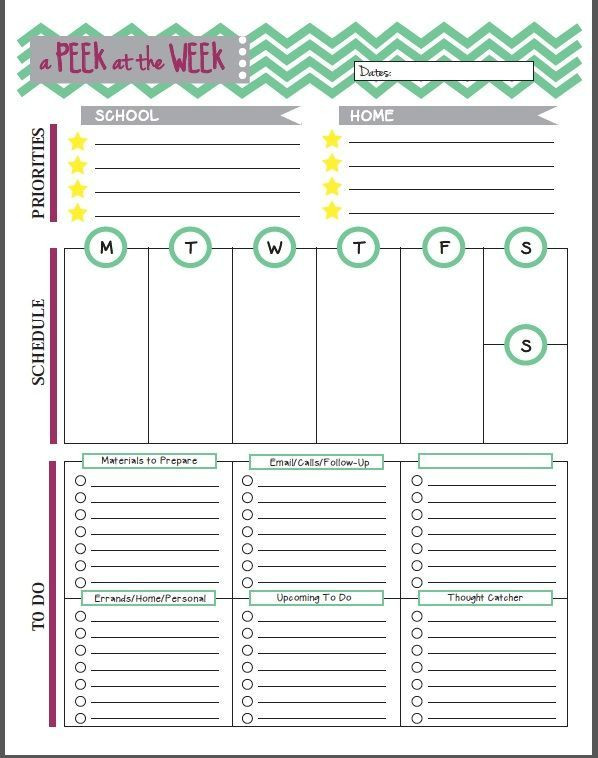 Weekly Planner Template for Teachers Dawgeared is Ing soon
