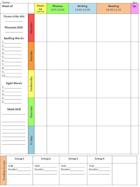Weekly Planner Template for Teachers Pin On Classroom organization