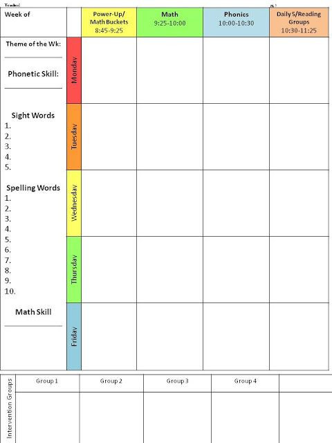 Weekly Planning Template for Teachers I Started Using This Editable Lesson Plan Template Last Year