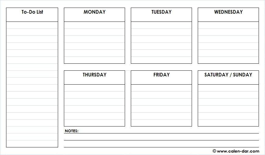 Weekly Schedule Planner Template Pin On Schedule Planner