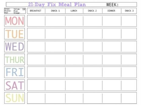 Weight Loss Meal Plan Template Pin On Diet