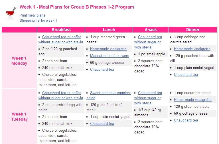 Weight Loss Meal Plan Template Sureslim T Plan Example