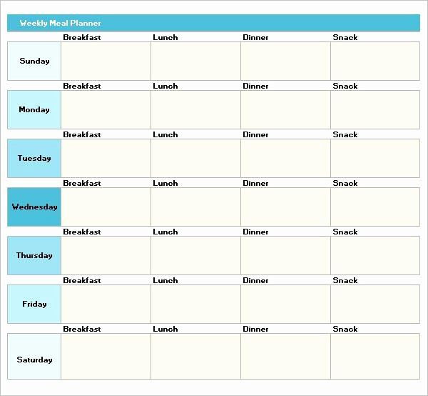 Weight Loss Meal Planner Template Pin On Business Action Plan Templates