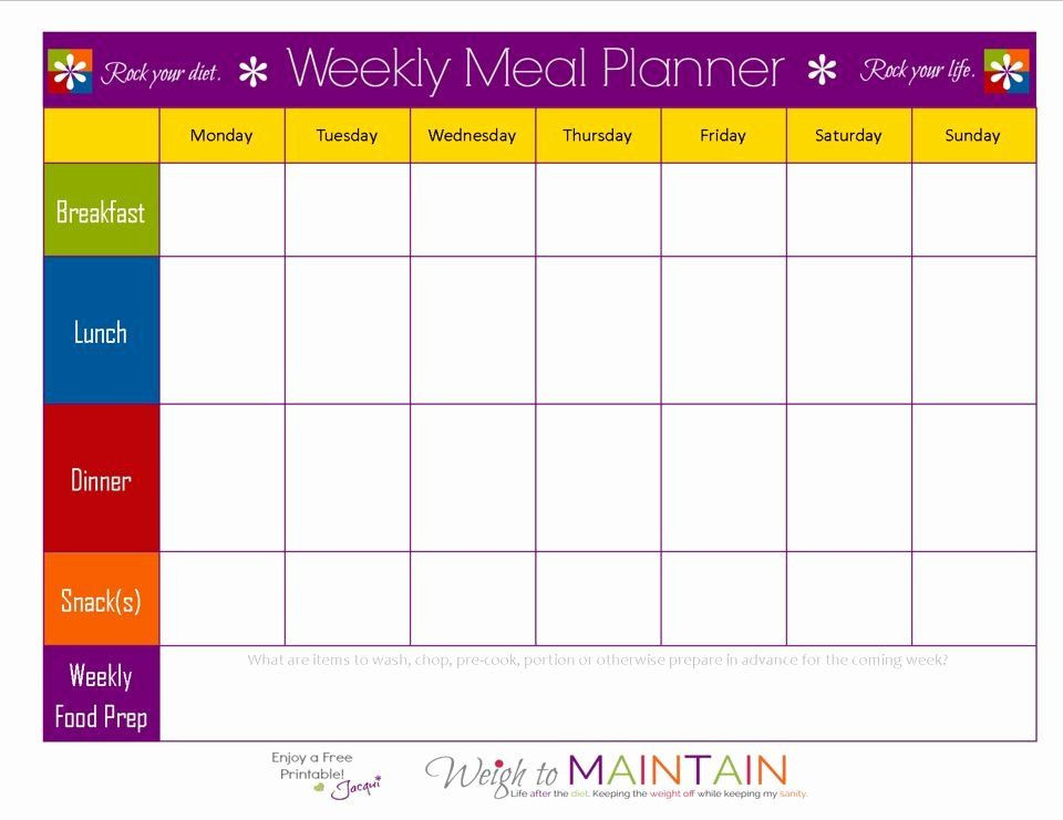 Weight Loss Meal Planner Template Pin On Simple Business Plan Templates