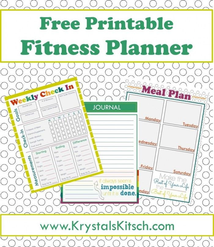 Weight Loss Menu Planner Template Free Fitness Journal Meal Planning Printables