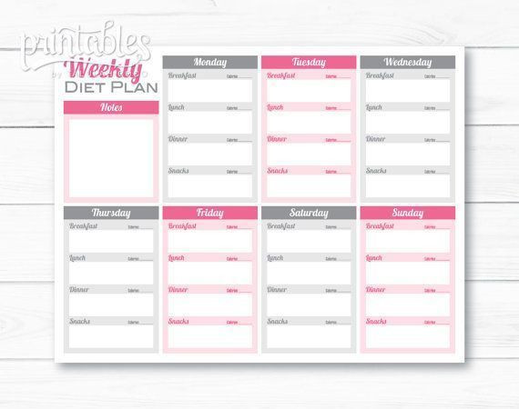 Weight Loss Menu Planner Template Pin On New Food Ideas