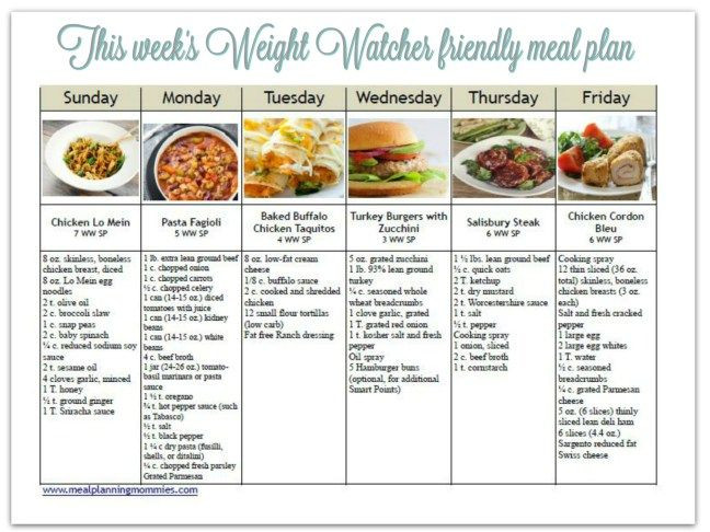 Weight Watchers Meal Planner Template Pin On Weight Watchers Meal Plans