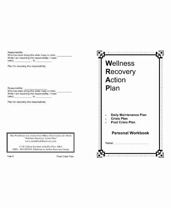 Wellness Recovery Action Plan Template Wellness Recovery Action Plan Template Unique 11 Wellness