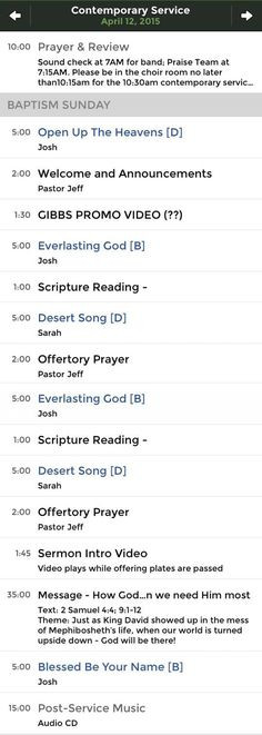 Worship Service Planning Template 20 Worship Planning Ideas