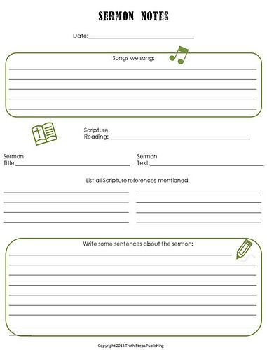 Worship Service Planning Template Free Resources Truth Steps Publishing