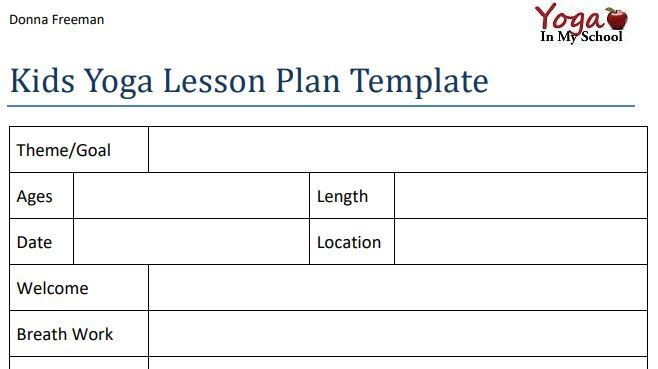 Yoga Class Plan Template Pin On Kids Yoga & Family Yoga