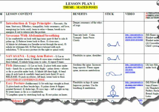 Yoga Class Plan Template Yoga Class Planning Template Luxury Send You A Yoga Lesson